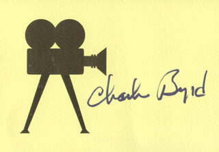Autographs: CHARLIE BYRD - PRINTED CARD SIGNED IN INK