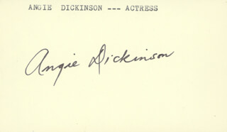 ANGIE DICKINSON - AUTOGRAPH