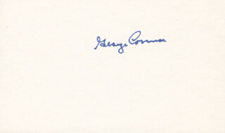 GEORGE CONNOR - AUTOGRAPH