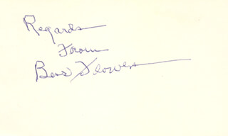 BESS FLOWERS - AUTOGRAPH SENTIMENT SIGNED