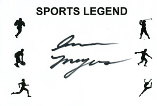 Autographs: ANN MEYERS - PRINTED CARD SIGNED IN INK