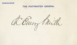 Autographs: CHARLES EMORY SMITH - PRINTED CARD SIGNED IN INK