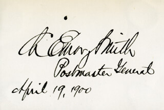 Autographs: CHARLES EMORY SMITH - SIGNATURE(S) 04/19/1900