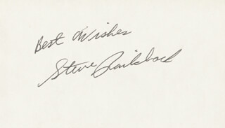 STEVE RAILSBACK - AUTOGRAPH SENTIMENT SIGNED