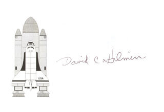 Autographs: COLONEL DAVID C. HILMERS - PRINTED CARD SIGNED IN INK