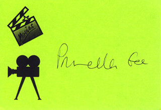 PAMELA ANDERSON - PRINTED CARD SIGNED IN INK