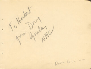 DOUG GOURLAY - AUTOGRAPH NOTE SIGNED CO-SIGNED BY: SACHA ROMAN, MISCHA RUEN