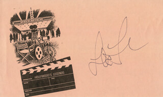 LEA THOMPSON - PRINTED CARD SIGNED IN INK
