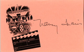 NANCY TRAVIS - PRINTED CARD SIGNED IN INK