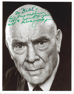 DEAN JAGGER - AUTOGRAPHED INSCRIBED PHOTOGRAPH
