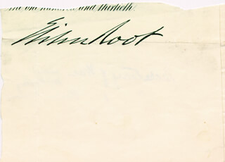 Autographs: ELIHU ROOT - CLIPPED SIGNATURE