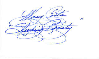 MARY COSTA - AUTOGRAPH