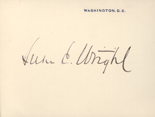 LUKE E. WRIGHT - PRINTED CARD SIGNED IN INK