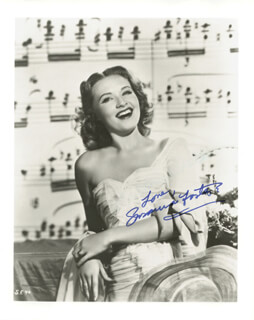 SUSANNA FOSTER - AUTOGRAPHED SIGNED PHOTOGRAPH