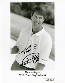 Autographs: PAUL AZINGER - INSCRIBED PHOTOGRAPH SIGNED