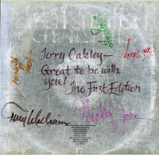 KENNY ROGERS AND THE FIRST EDITION - RECORD ALBUM COVER SIGNED CO-SIGNED BY: KENNY ROGERS, FIRST EDITION (TERRY WILLIAMS), FIRST EDITION (KIN VASSY), FIRST EDITION (MARY ARNOLD), MICKEY JONES