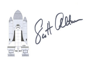 Autographs: CAPTAIN SCOTT ALTMAN - PRINTED CARD SIGNED IN INK
