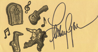 LESLEY GORE - PRINTED CARD SIGNED IN INK