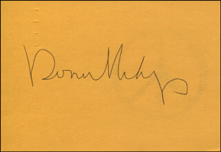RONNIE MILSAP - PRINTED CARD SIGNED IN INK