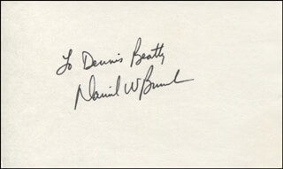 CAPTAIN DANIEL W. BURSCH - INSCRIBED SIGNATURE