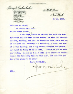 Autographs: GEORGE W. WICKERSHAM - TYPED LETTER SIGNED 11/26/1906