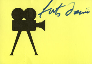 FATS DOMINO - PRINTED CARD SIGNED IN INK
