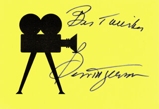 BESS MYERSON - AUTOGRAPH SENTIMENT ON PRINTED CARD SIGNED IN INK