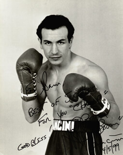 RAY BOOM BOOM MANCINI - AUTOGRAPHED INSCRIBED PHOTOGRAPH 04/05/1999