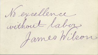 Autographs: JAMES WILSON - AUTOGRAPH QUOTATION SIGNED