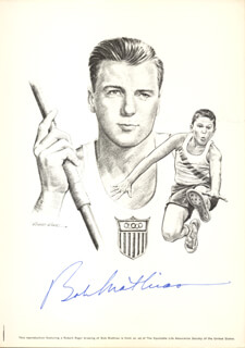 BOB MATHIAS - ILLUSTRATION SIGNED