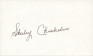 Autographs: SHIRLEY CHISHOLM - SIGNATURE(S)