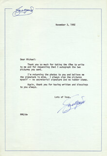 ROSE MARIE - TYPED LETTER SIGNED 11/03/1992