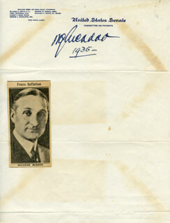WILLIAM G. McADOO - AUTOGRAPH 1935