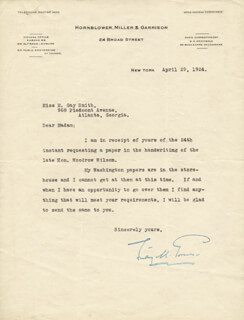 LINDLEY M. GARRISON - TYPED LETTER SIGNED 04/29/1924