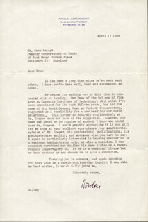 NIKOLAI LOPATNIKOFF - TYPED LETTER SIGNED 04/17/1960