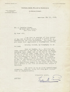 Autographs: LINDLEY M. GARRISON - TYPED LETTER SIGNED 06/12/1925
