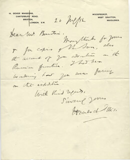 HAVELOCK HENRY ELLIS - AUTOGRAPH LETTER SIGNED 05/20/1912