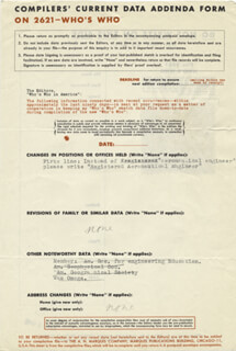Autographs: JEAN F. PICCARD - DOCUMENT UNSIGNED CIRCA 1949
