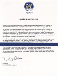 Autographs: COLONEL BUZZ ALDRIN - TYPED LETTER SIGNED