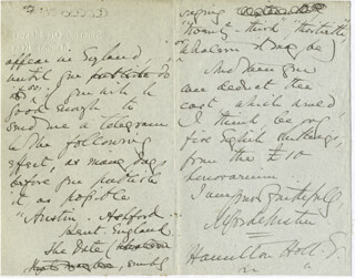 ALFRED AUSTIN - AUTOGRAPH LETTER SIGNED 12/06/1899