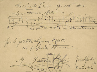 MARIO ENRICO BOSSI - AUTOGRAPH MUSICAL QUOTATION SIGNED 02/04/1902