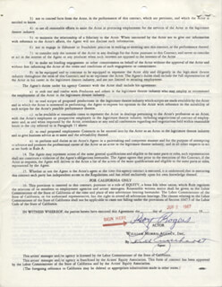 ROY ROGERS - DOCUMENT SIGNED 06/02/1967