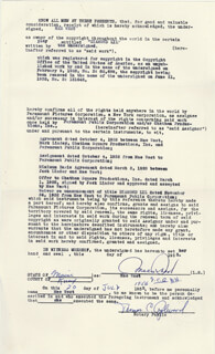MAE WEST - DOCUMENT DOUBLE SIGNED 07/20/1956