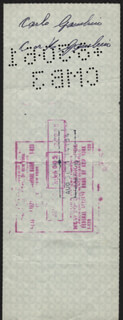 CARLO DON CARLO GAMBINO - CHECK DOUBLE ENDORSED 08/25/1961 CO-SIGNED BY: HENRY SALTZSTEIN, GEORGE SCHILLER