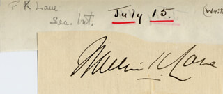 Autographs: FRANKLIN K. LANE - CLIPPED SIGNATURE