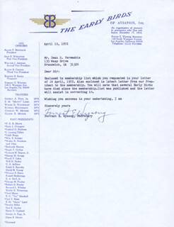 FORREST E. WYSONG - TYPED LETTER SIGNED 04/19/1972