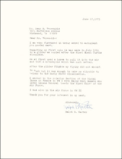 Autographs: RALPH B. CARTER - TYPED LETTER SIGNED 06/17/1975