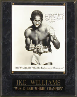 IKE WILLIAMS - AUTOGRAPHED SIGNED PHOTOGRAPH 04/09/1979
