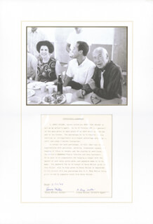 HENRY MILLER - DOCUMENT SIGNED 02/15/1978