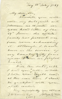 MAJOR GENERAL JOHN E. WOOL - AUTOGRAPH LETTER SIGNED 07/11/1867